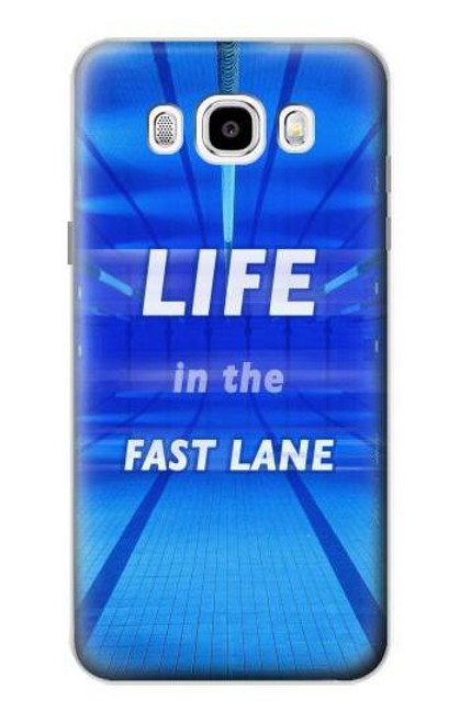 S3136 Life in the Fast Lane Swimming Pool Case For Samsung Galaxy J5 (2016)