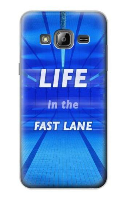 S3136 Life in the Fast Lane Swimming Pool Case For Samsung Galaxy J3 (2016)