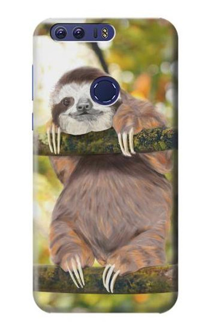 S3138 Cute Baby Sloth Paint Case For Huawei Honor 8