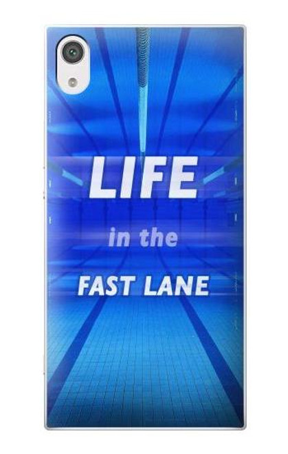S3136 Life in the Fast Lane Swimming Pool Case For Sony Xperia XA1