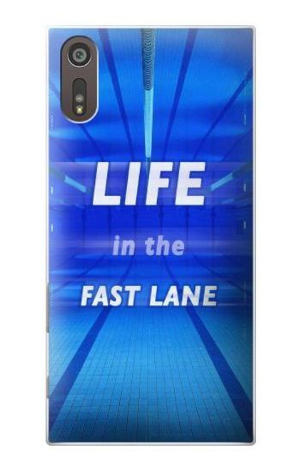 S3136 Life in the Fast Lane Swimming Pool Case For Sony Xperia XZ