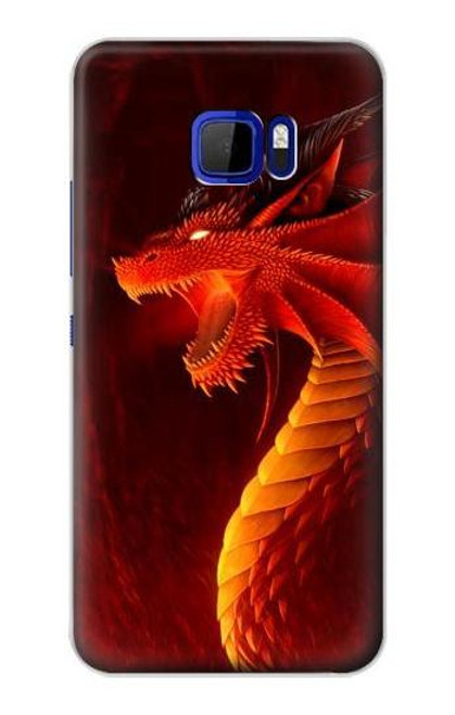 S0526 Red Dragon Case For HTC U Ultra
