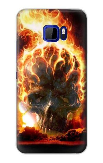 S0863 Hell Fire Skull Case For HTC U Ultra