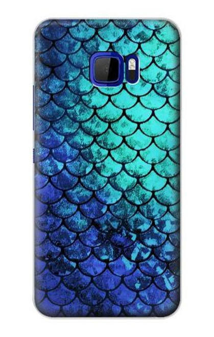 S3047 Green Mermaid Fish Scale Case For HTC U Ultra