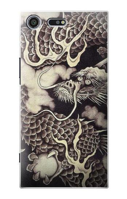 S2719 Japan Painting Dragon Case For Sony Xperia XZ Premium