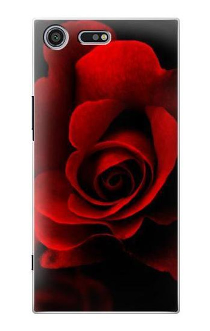 S2898 Red Rose Case For Sony Xperia XZ Premium