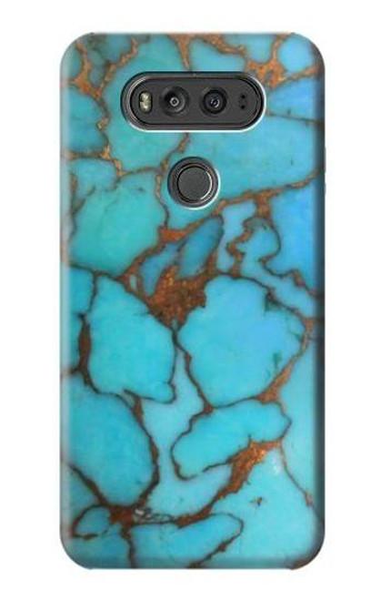 S2685 Aqua Turquoise Gemstone Graphic Printed Case For LG V20