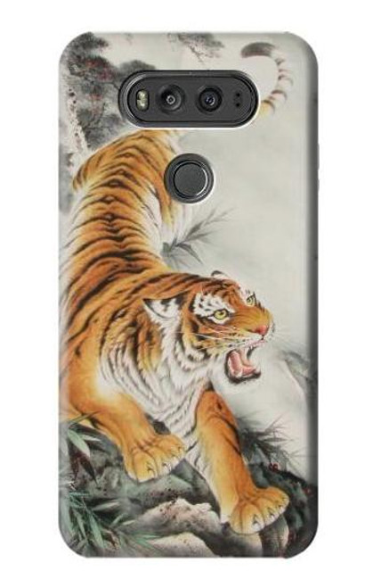 S2751 Chinese Tiger Brush Painting Case For LG V20