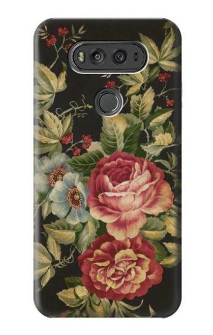 S3013 Vintage Antique Roses Case For LG V20