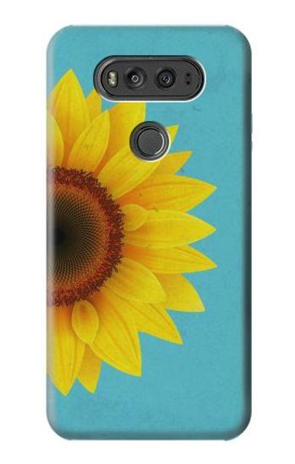 S3039 Vintage Sunflower Blue Case For LG V20