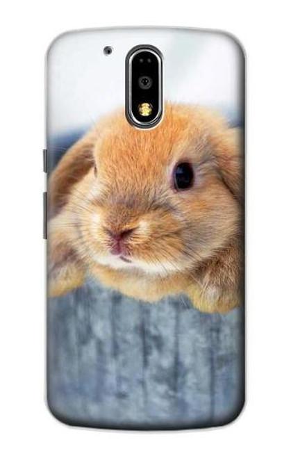 S0242 Cute Rabbit Case For Motorola Moto G4, G4 Plus