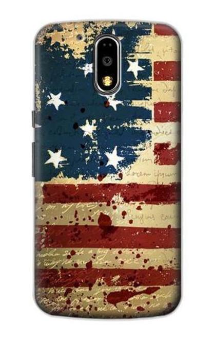 S2349 Old American Flag Case For Motorola Moto G4, G4 Plus