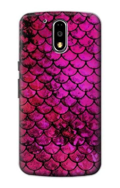 S3051 Pink Mermaid Fish Scale Case For Motorola Moto G4, G4 Plus