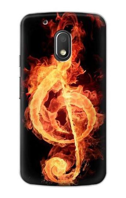S0493 Music Note Burn Case For Motorola Moto G4 Play