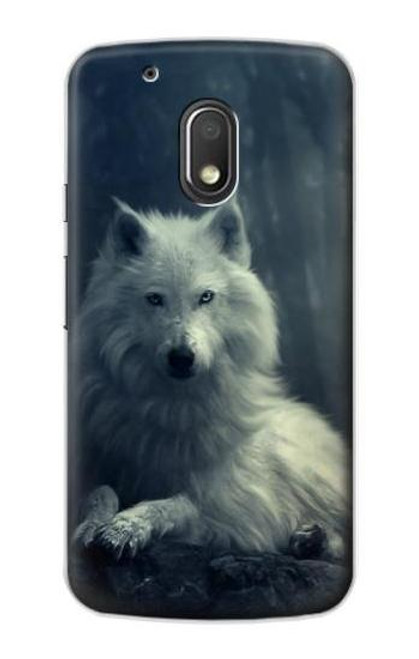 S1516 White Wolf Case For Motorola Moto G4 Play