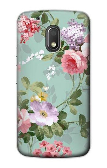 S2178 Flower Floral Art Painting Case For Motorola Moto G4 Play