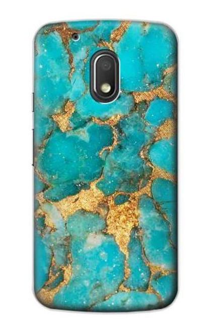 S2906 Aqua Turquoise Stone Case For Motorola Moto G4 Play