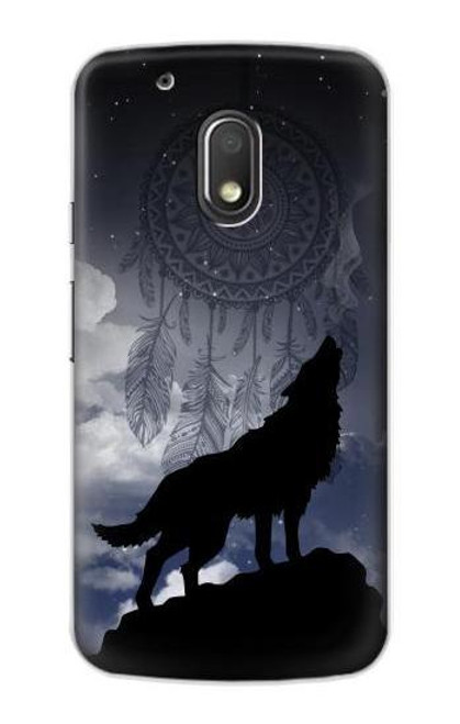 S3011 Dream Catcher Wolf Howling Case For Motorola Moto G4 Play