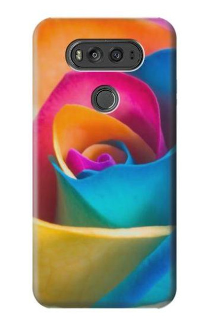 S1671 Rainbow Colorful Rose Case For LG V20