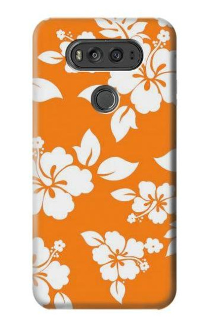 S2245 Hawaiian Hibiscus Orange Pattern Case For LG V20