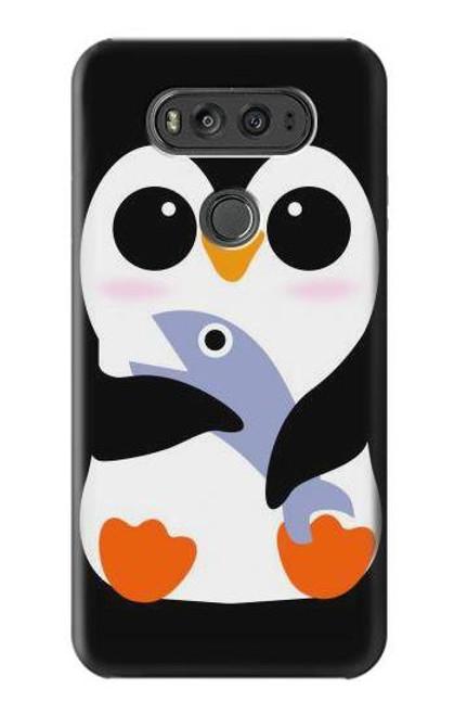 S2631 Cute Baby Penguin Case For LG V20
