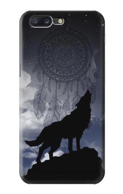 S3011 Dream Catcher Wolf Howling Case For OnePlus 5