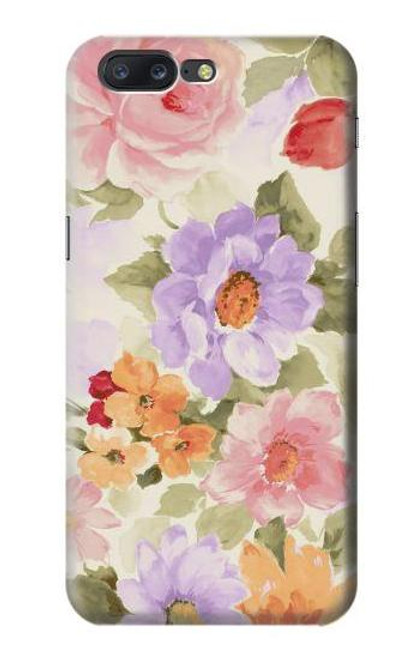 S3035 Sweet Flower Painting Case For OnePlus 5