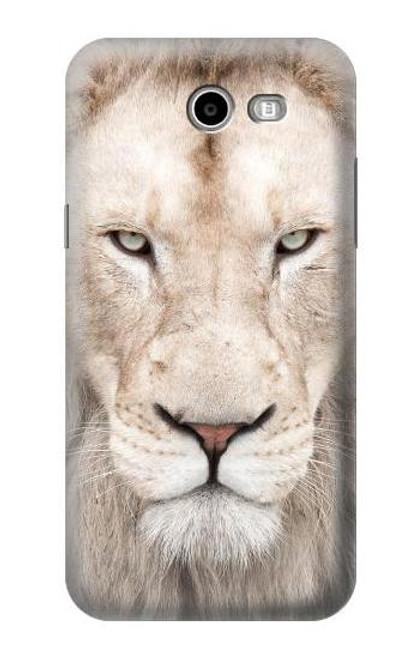 S2399 White Lion Face Case For Samsung Galaxy J7 (2017), J7 Perx, J7V, J7 Sky Pro