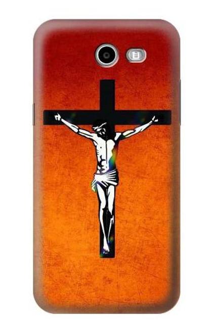 S2421 Jesus Christ On The Cross Case For Samsung Galaxy J7 (2017), J7 Perx, J7V, J7 Sky Pro