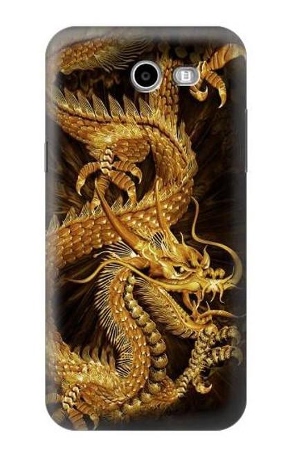 S2804 Chinese Gold Dragon Printed Case For Samsung Galaxy J7 (2017), J7 Perx, J7V, J7 Sky Pro