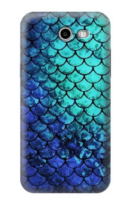 S3047 Green Mermaid Fish Scale Case For Samsung Galaxy J7 (2017), J7 Perx, J7V, J7 Sky Pro