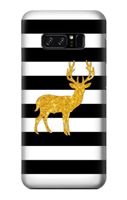 S2794 Black and White Striped Deer Gold Sparkles Case For Note 8 Samsung Galaxy Note8