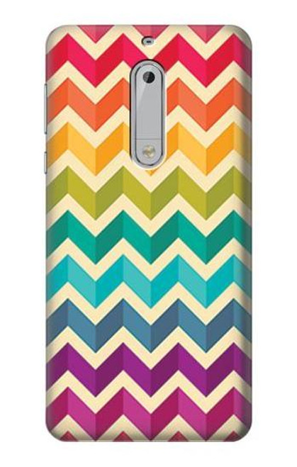 S2362 Rainbow Colorful Shavron Zig Zag Pattern Case For Nokia 5