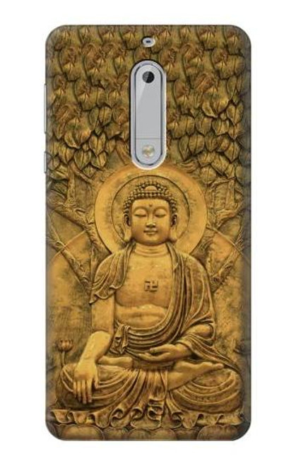 S2452 Buddha Bas Relief Art Graphic Printed Case For Nokia 5