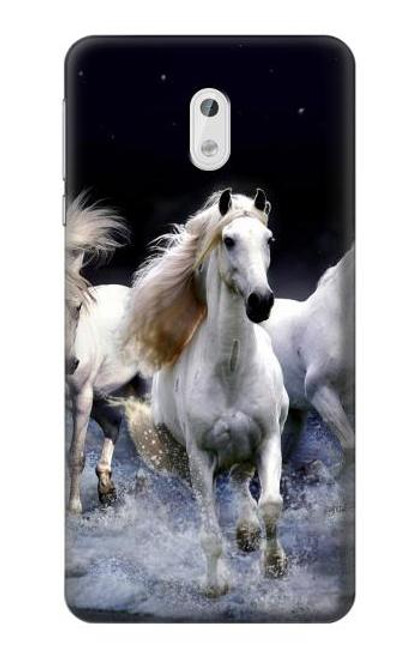 S0246 White Horse Case For Nokia 3
