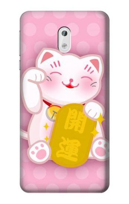 S3025 Pink Maneki Neko Lucky Cat Case For Nokia 3