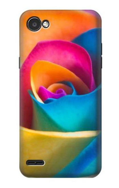 S1671 Rainbow Colorful Rose Case For LG Q6