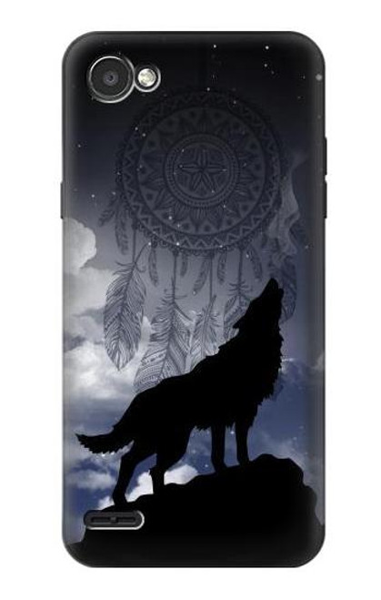 S3011 Dream Catcher Wolf Howling Case For LG Q6