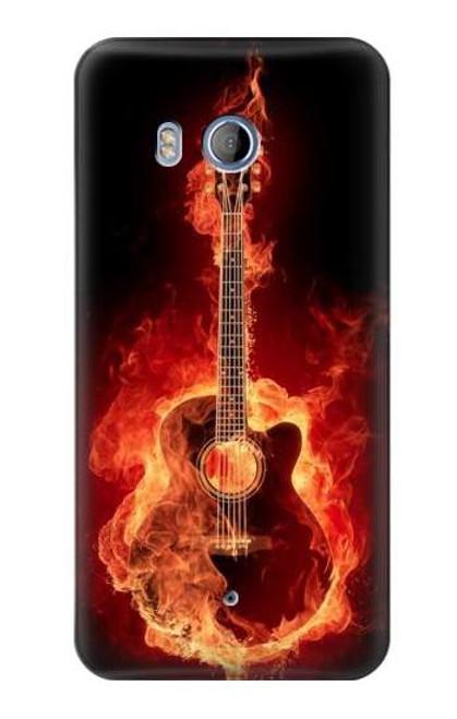 S0415 Fire Guitar Burn Case For HTC U11