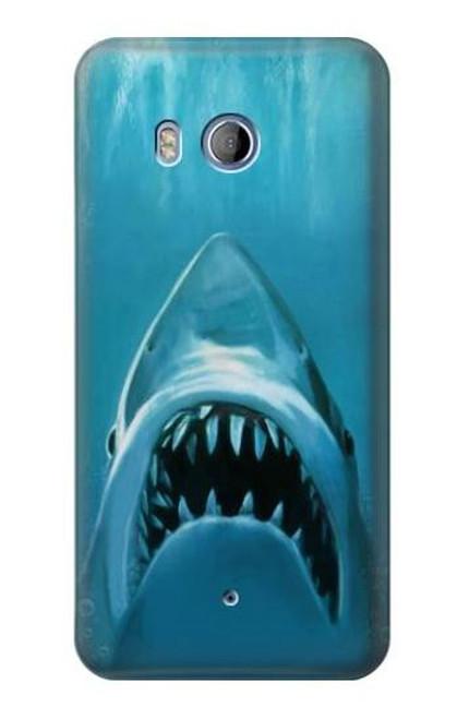 S0830 White Shark Case For HTC U11