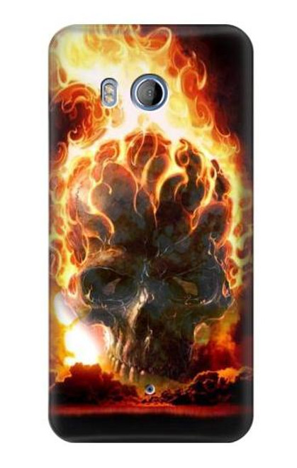 S0863 Hell Fire Skull Case For HTC U11