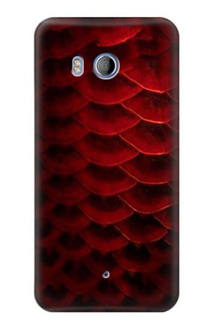 S2879 Red Arowana Fish Scale Case For HTC U11