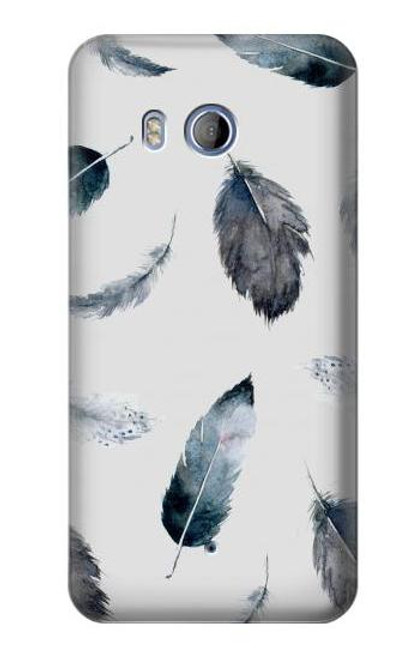 S3085 Feather Paint Pattern Case For HTC U11