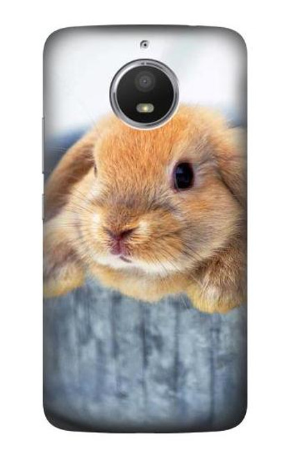 S0242 Cute Rabbit Case For Motorola Moto E4 Plus