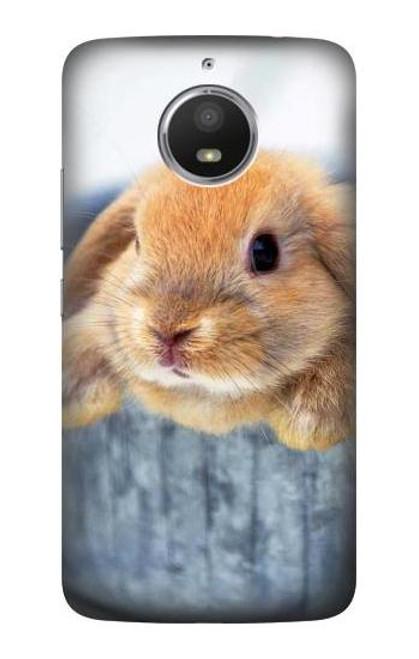 S0242 Cute Rabbit Case For Motorola Moto E4 Plus