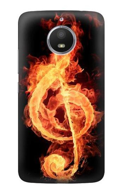 S0493 Music Note Burn Case For Motorola Moto E4 Plus