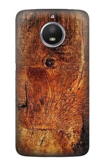 S1140 Wood Skin Graphic Case For Motorola Moto E4 Plus