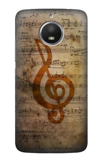 S2368 Sheet Music Notes Case For Motorola Moto E4 Plus