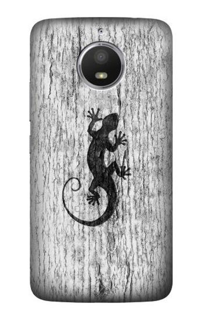 S2446 Gecko Wood Graphic Printed Case For Motorola Moto E4 Plus