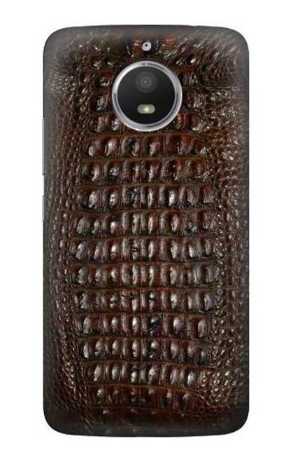 S2850 Brown Skin Alligator Graphic Printed Case For Motorola Moto E4 Plus